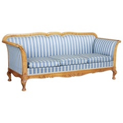 Swedish Late 19th Century Century Carved Birch Sofa