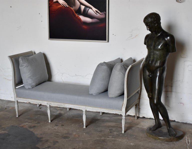 Swedish Late Gustavian Banquet Sofa, the First Half of the 19th Century For Sale 5