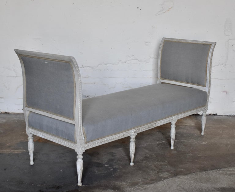 Mid-19th Century Swedish Late Gustavian Banquet Sofa, the First Half of the 19th Century For Sale