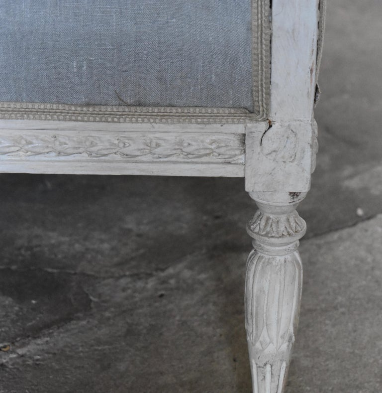 Swedish Late Gustavian Banquet Sofa, the First Half of the 19th Century For Sale 1