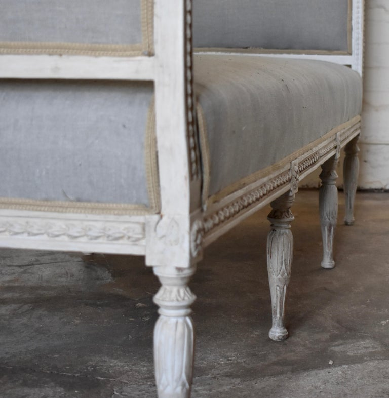 Swedish Late Gustavian Banquet Sofa, the First Half of the 19th Century For Sale 2