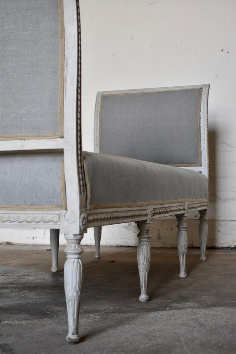 Swedish Late Gustavian Banquet Sofa, the First Half of the 19th Century For Sale 3