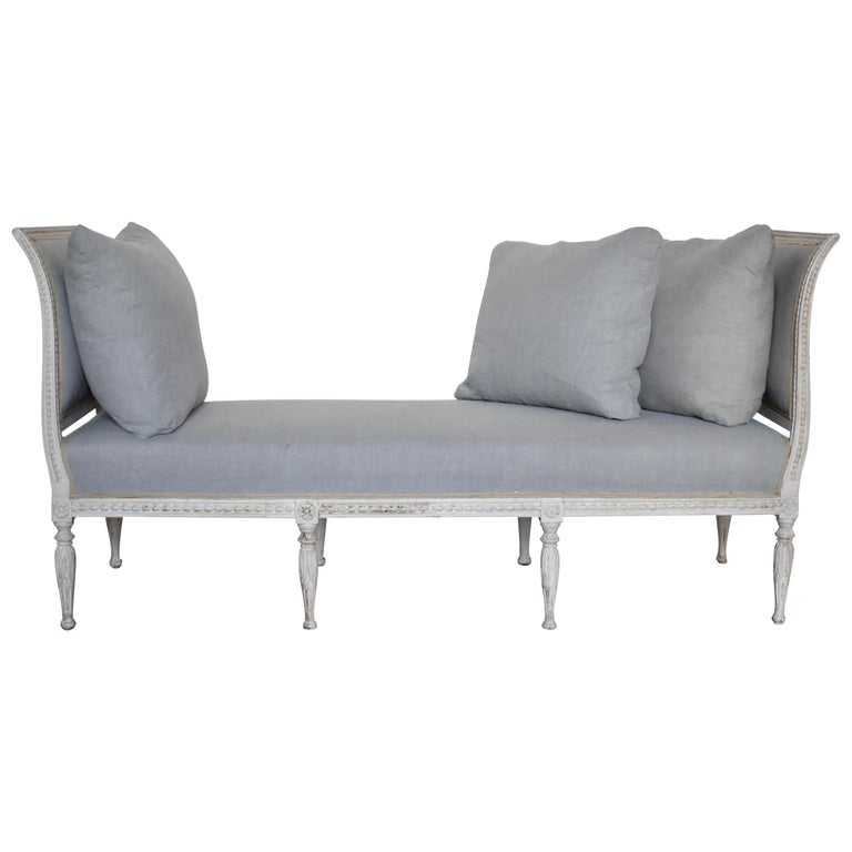 Swedish Late Gustavian Banquet Sofa, the First Half of the 19th Century For Sale