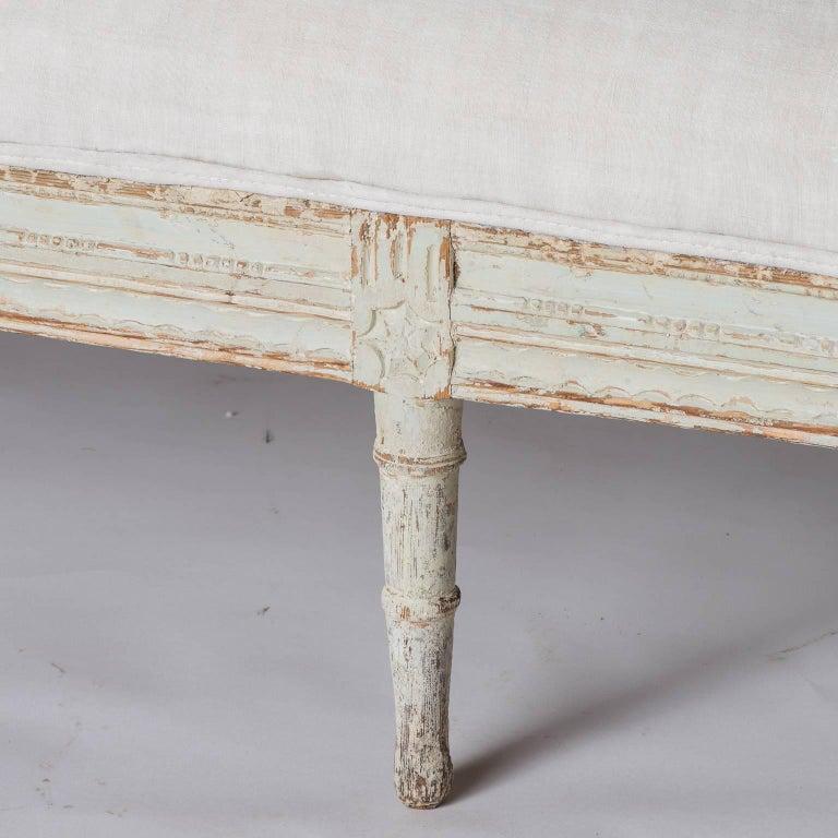 19th Century Swedish Late Gustavian Bench, circa 1820 For Sale