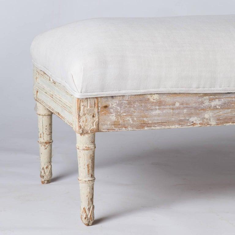 Swedish Late Gustavian Bench, circa 1820 For Sale 3