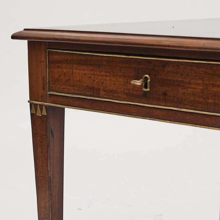 Swedish Late Gustavian Console Table in Mahogany For Sale 5