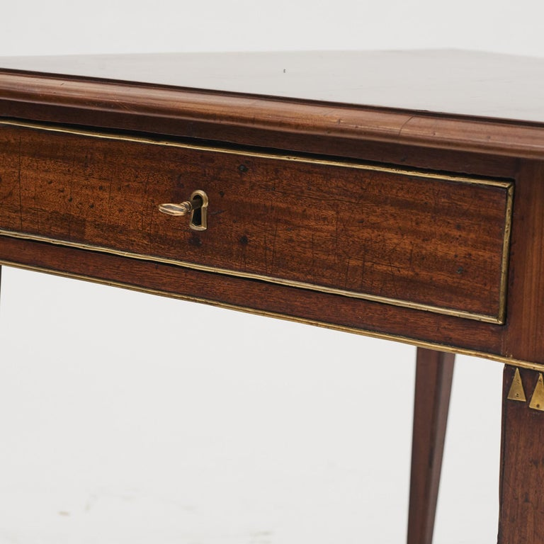 Swedish Late Gustavian Console Table in Mahogany For Sale 6