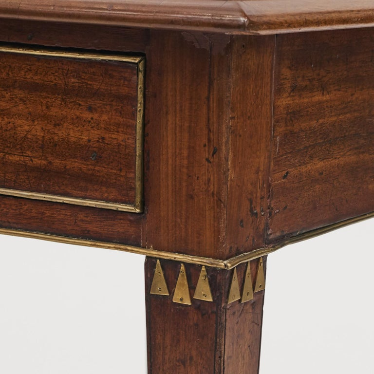 Swedish Late Gustavian Console Table in Mahogany For Sale 7