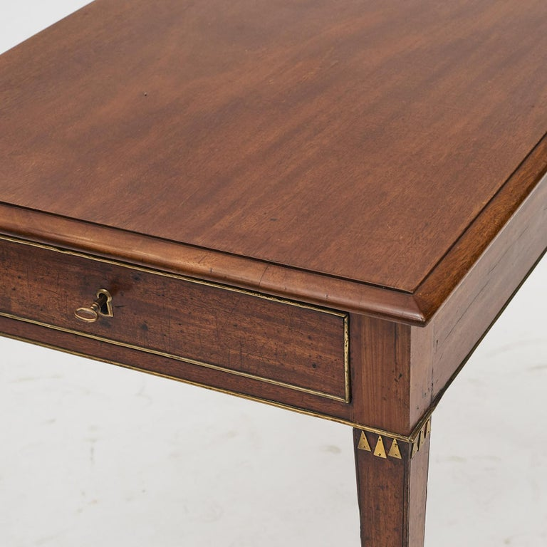 Swedish Late Gustavian Console Table in Mahogany For Sale 8