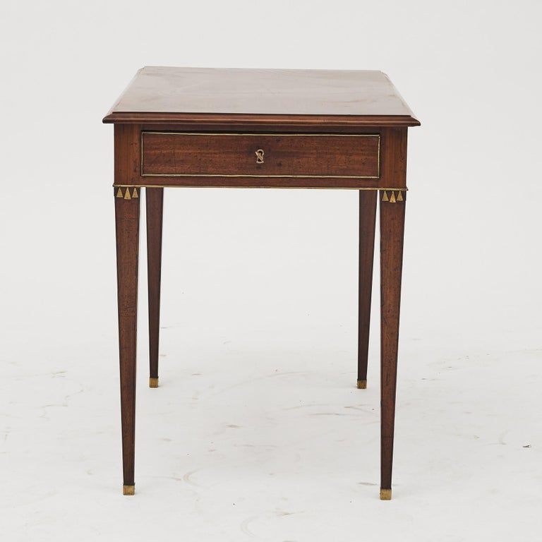 Swedish Late Gustavian Console Table in Mahogany In Good Condition For Sale In Nordhavn, DK