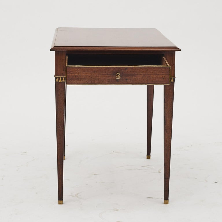 19th Century Swedish Late Gustavian Console Table in Mahogany For Sale