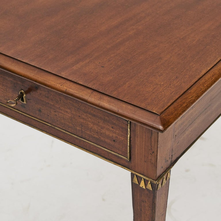 Swedish Late Gustavian Console Table in Mahogany For Sale 2