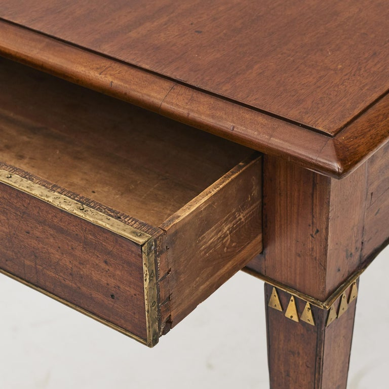 Swedish Late Gustavian Console Table in Mahogany For Sale 3
