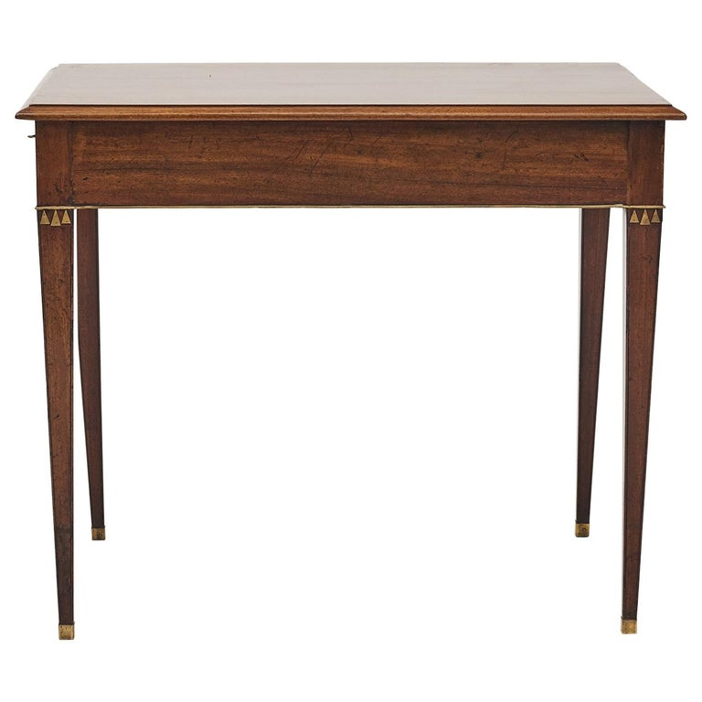 Swedish Late Gustavian Console Table in Mahogany For Sale