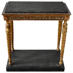Swedish Late Gustavian Console Table, Stockholm, Early 1800s