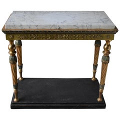 Swedish Late Gustavian Console Table, Stockholm Early 1800s with Marble Top