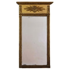 Swedish Late Gustavian, Early Empire Giltwood Trumeau Form Mirror, circa 1810