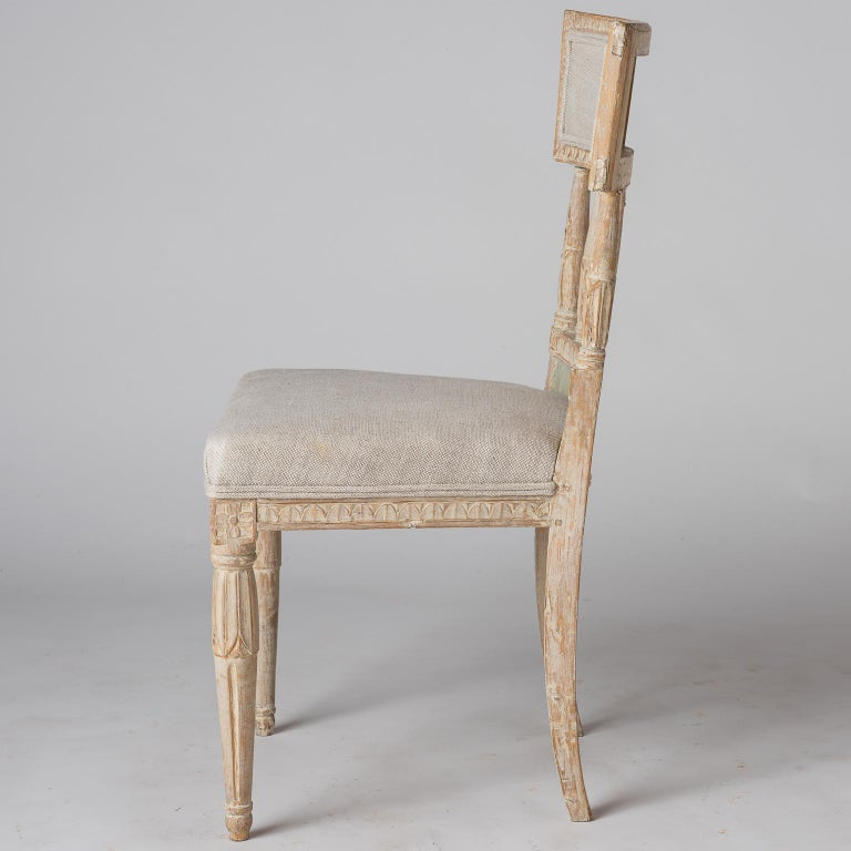 Swedish Late Gustavian Period Chairs in Original Paint, circa 1800 For Sale 1
