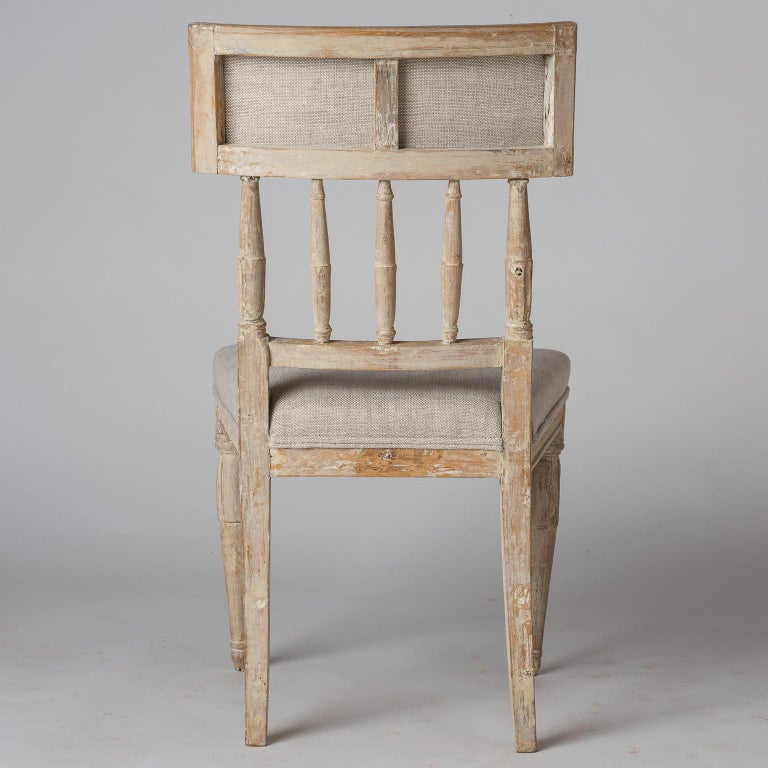 Swedish Late Gustavian Period Chairs in Original Paint, circa 1800 For Sale 2