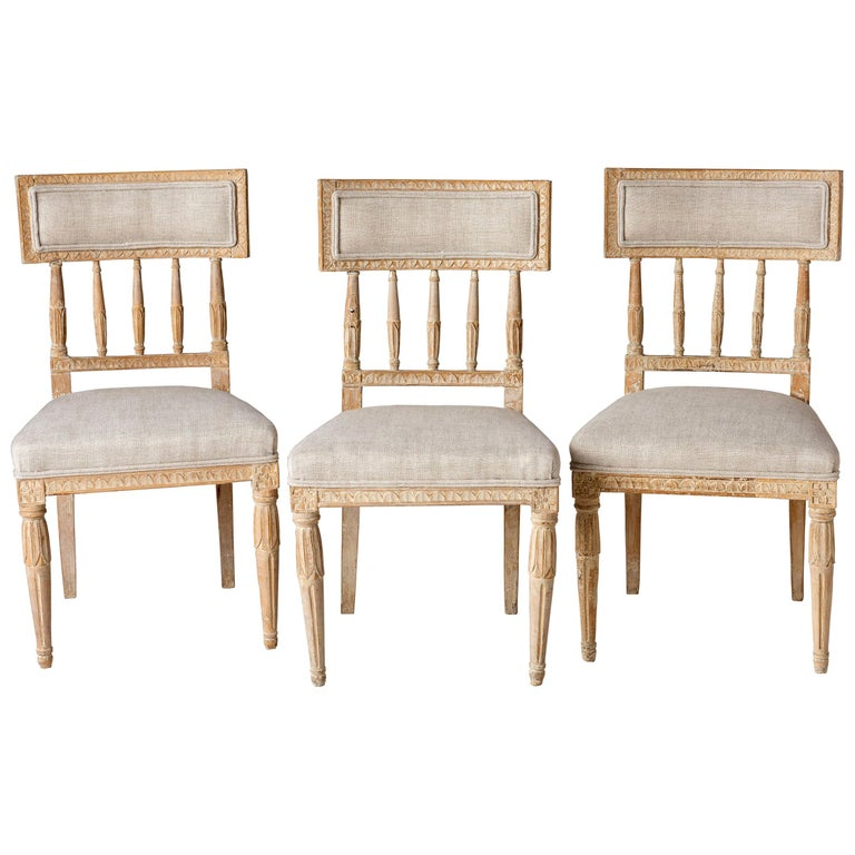 Swedish Late Gustavian Period Chairs in Original Paint, circa 1800 For Sale