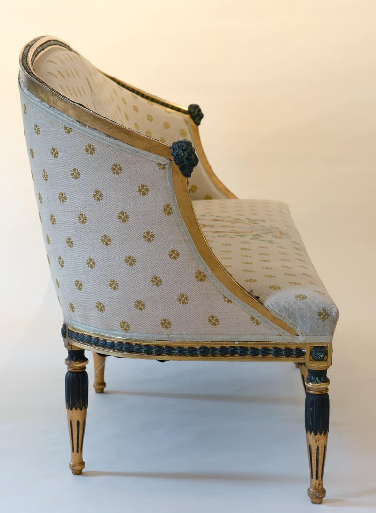 Scandinavian Swedish Late Gustavian Sofa by Ephraim Stahl Stockholm circa 1800 Gilded For Sale