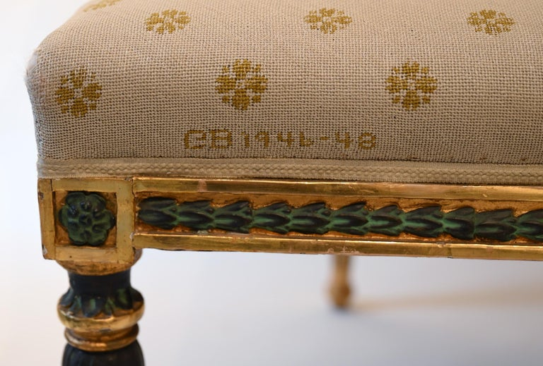 Bronze Swedish Late Gustavian Sofa by Ephraim Stahl Stockholm circa 1800 Gilded For Sale