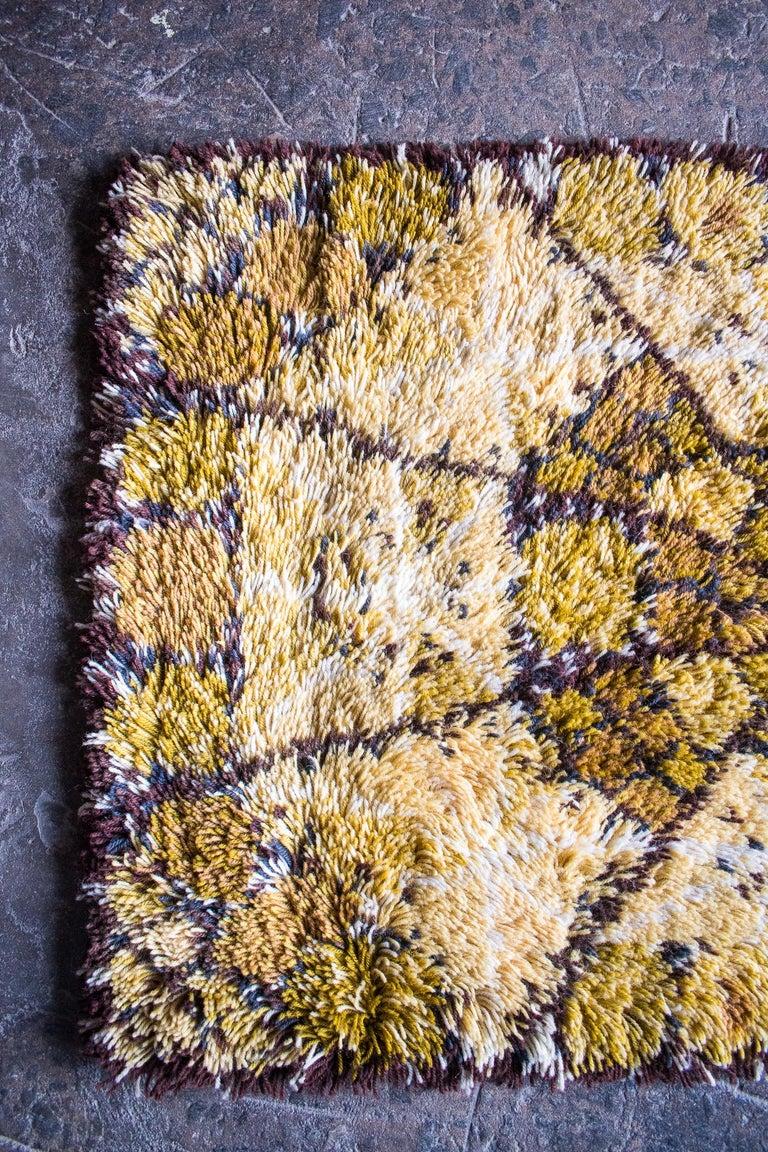 Wool Swedish 'LOFSTAD' Rya Rug by Marianne Richter