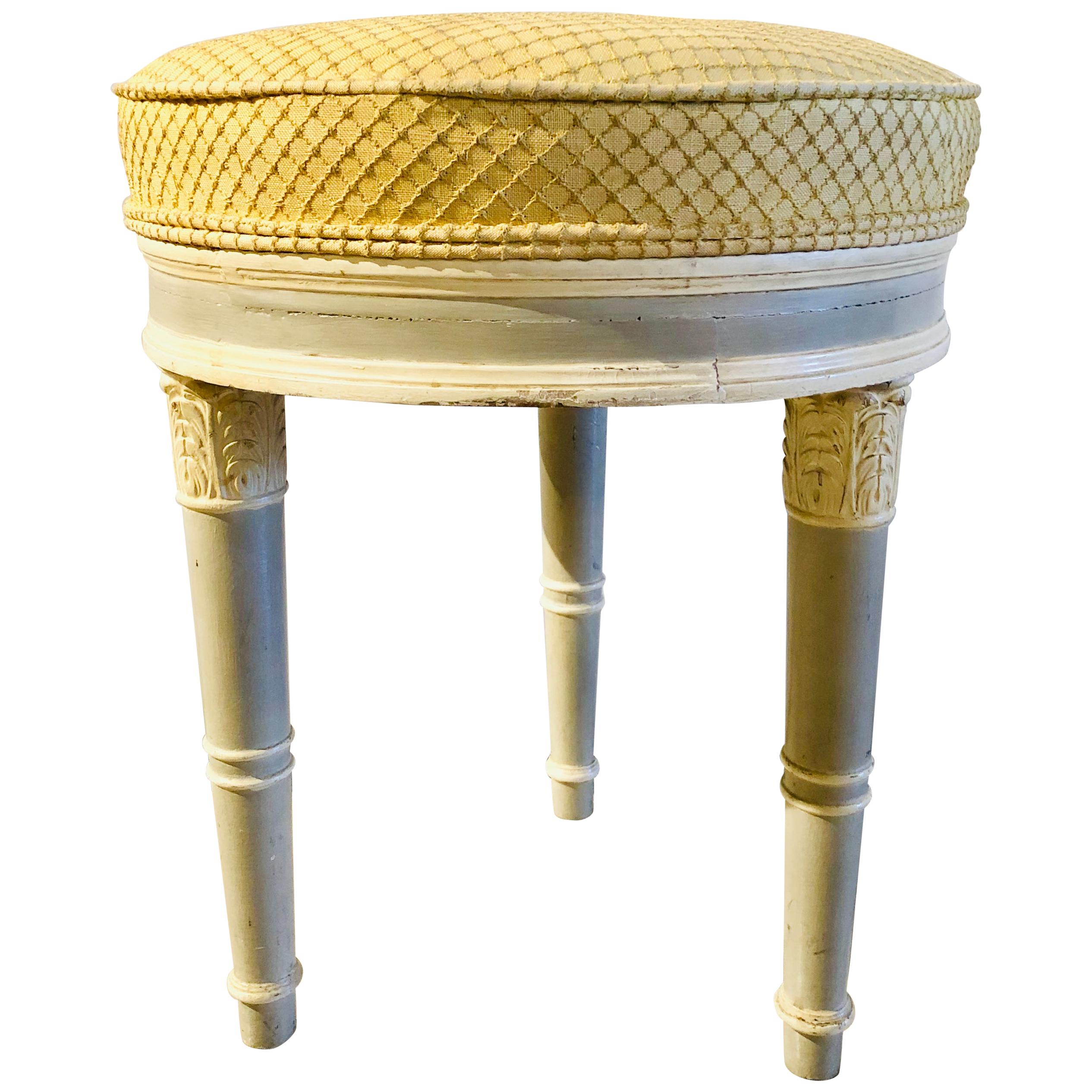 Swedish Louis XVI Style Paint Decorated Foot Stool or Bench