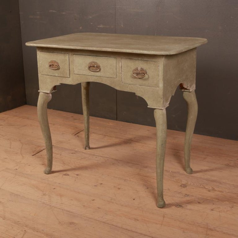 Gustavian Swedish Low Boy / Side Table For Sale
