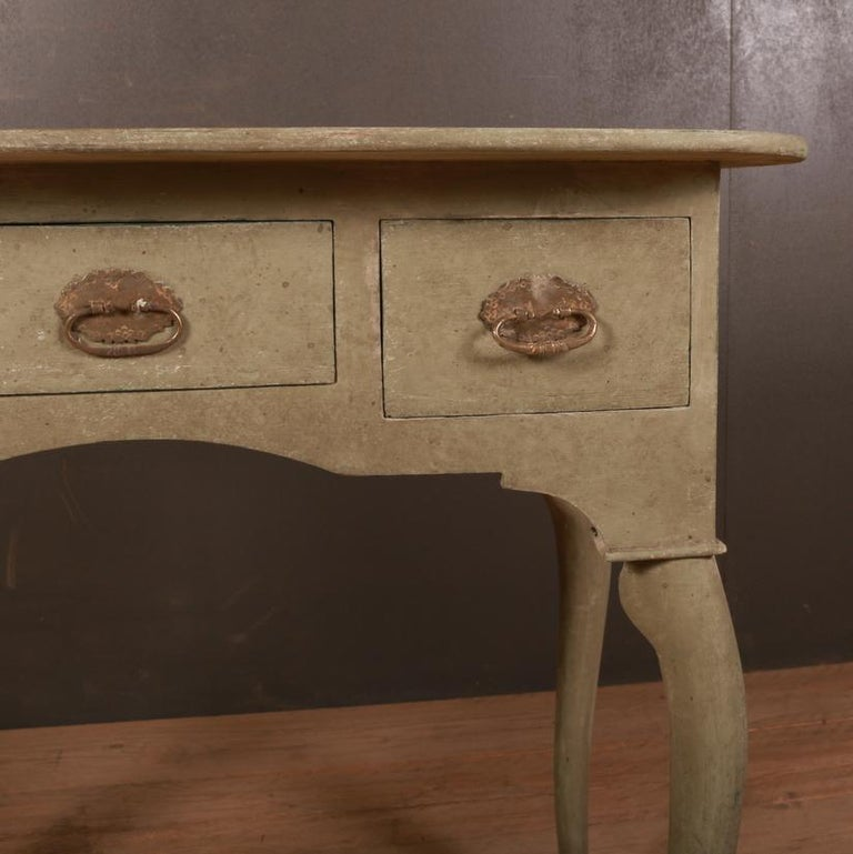 Hand-Painted Swedish Low Boy / Side Table For Sale