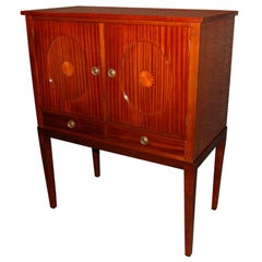 Swedish Mahogany Inlaid Bar / Storage Cabinet
