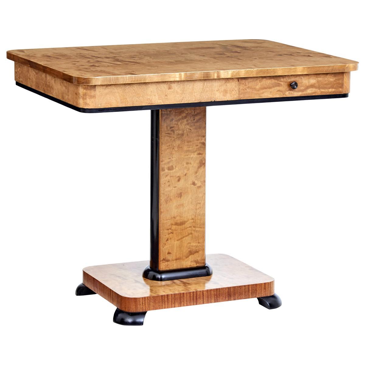 Swedish Mid-20th Century Birch Side Table