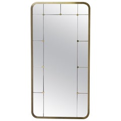 Swedish Mid-20th Century Brass Mirror