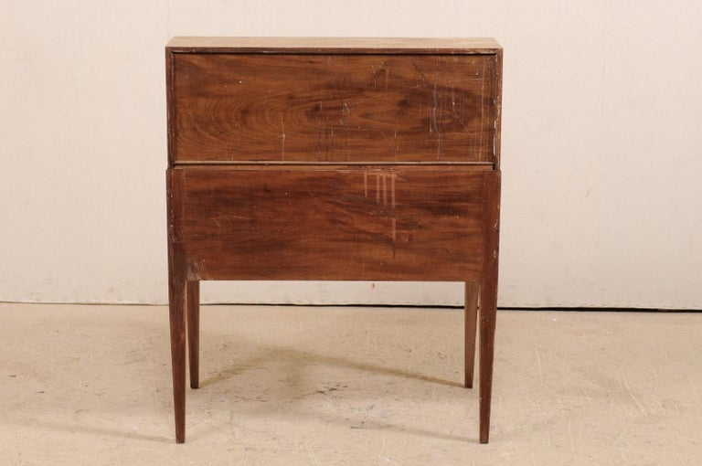 Swedish Mid-20th Century Drop-Leaf Secretary Writing Desk with Drawers For Sale 6