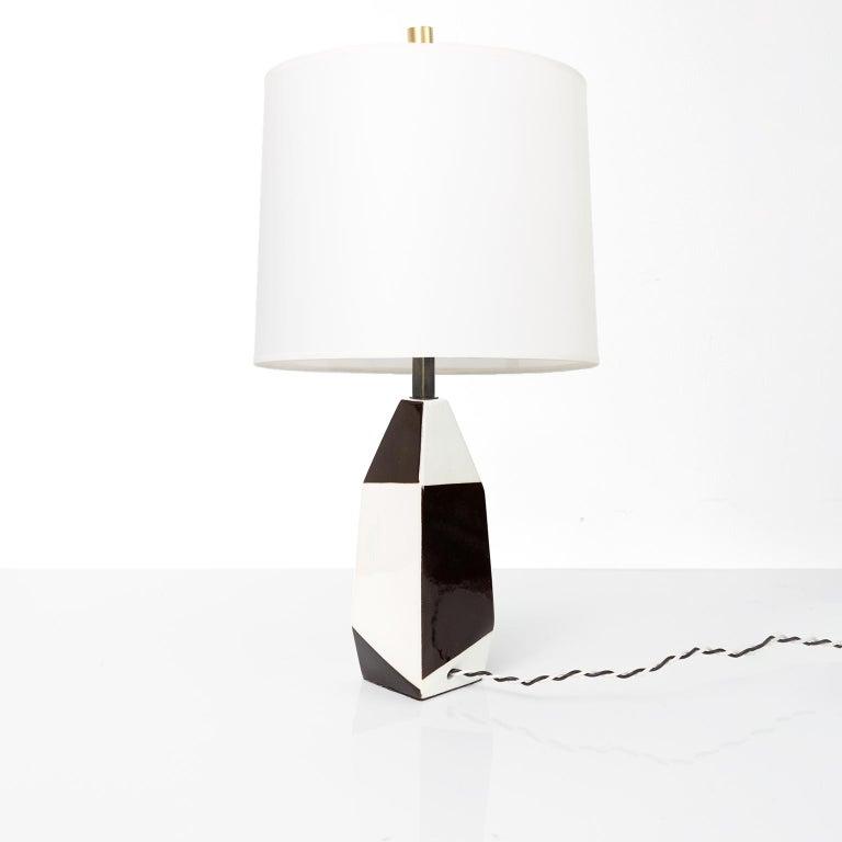 Scandinavian Modern Swedish Midcentury Ceramic Lamp by Designer Carl-Harry Stalhane for Rorstrand For Sale