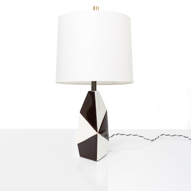 Scandinavian Swedish Midcentury Ceramic Lamp by Designer Carl-Harry Stalhane for Rorstrand For Sale