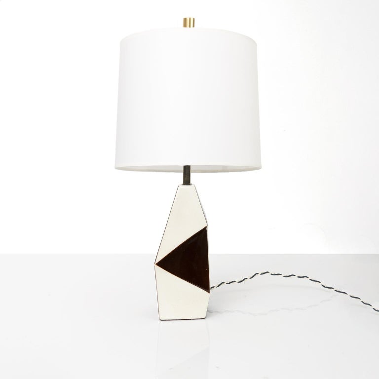 Patinated Swedish Midcentury Ceramic Lamp by Designer Carl-Harry Stalhane for Rorstrand For Sale