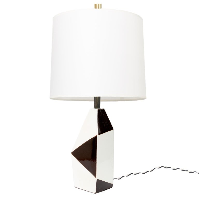 Swedish Midcentury Ceramic Lamp by Designer Carl-Harry Stalhane for Rorstrand For Sale