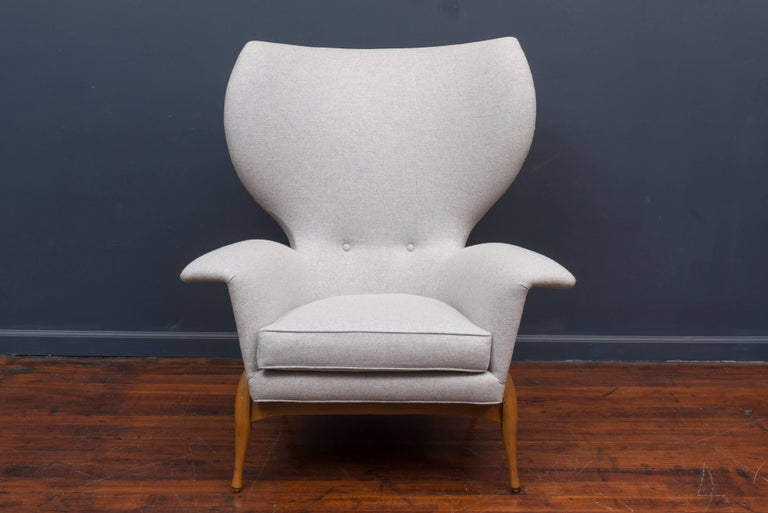 Scandinavian Modern Swedish Mid Century Lounge Chair For Sale
