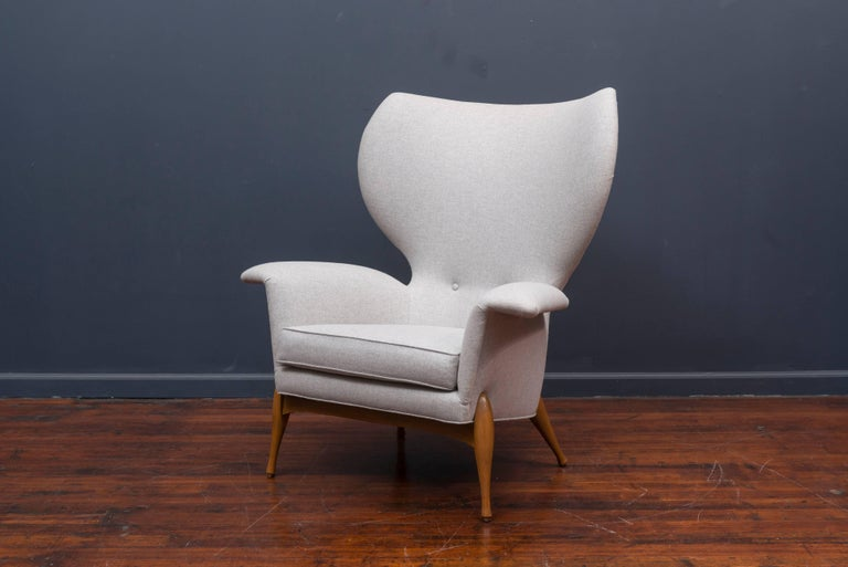 Swedish Mid Century Lounge Chair In Excellent Condition For Sale In San Francisco, CA