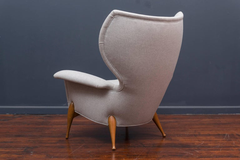 Swedish Mid Century Lounge Chair For Sale 1