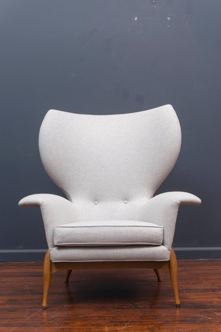 Swedish Mid Century Lounge Chair For Sale 3
