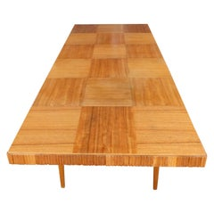 Swedish Mid-Century Modern Extendable Dining Table with Parquery Top, circa 1950