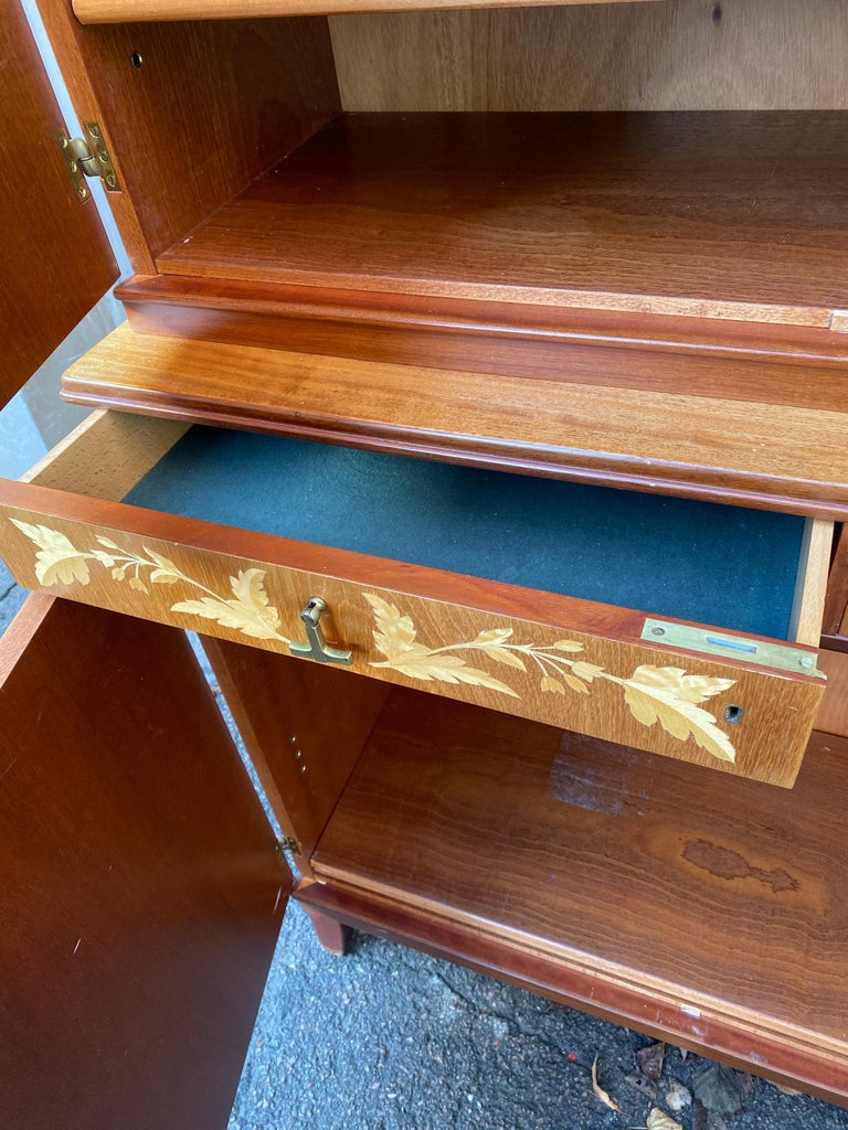 Swedish Mid-Century Modern Inlaid Cabinet with Brass Hardware by J.O. Carlssons For Sale 6