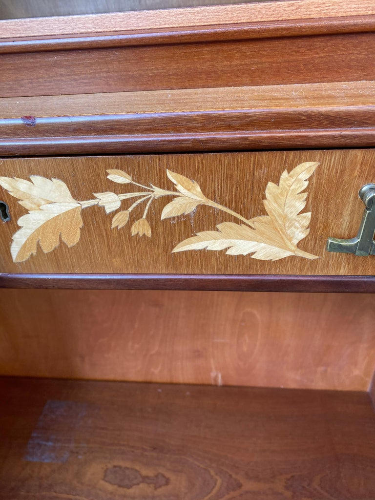 Swedish Mid-Century Modern Inlaid Cabinet with Brass Hardware by J.O. Carlssons For Sale 10
