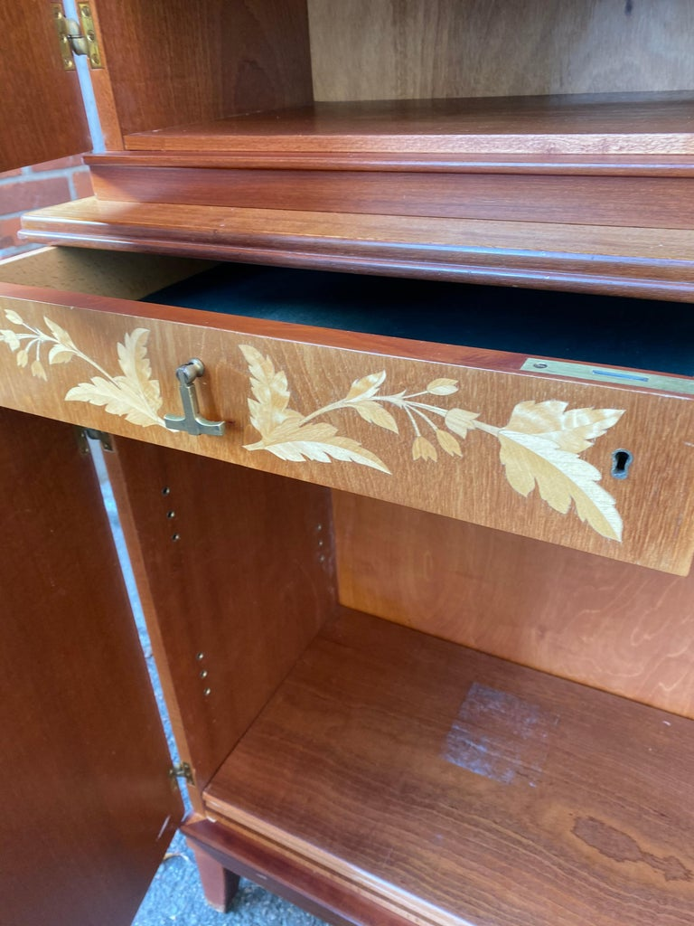 Swedish Mid-Century Modern Inlaid Cabinet with Brass Hardware by J.O. Carlssons For Sale 11