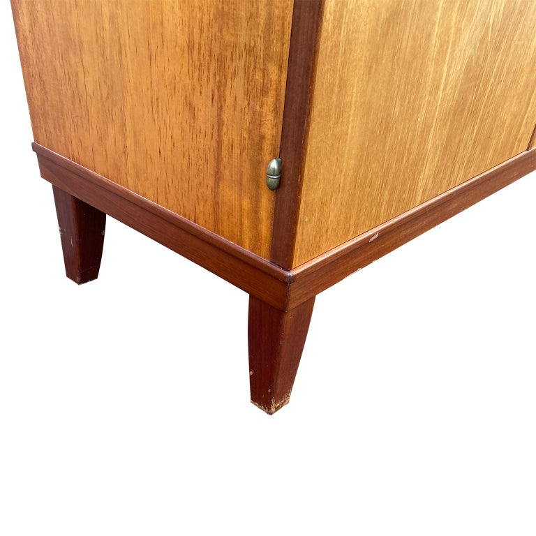 Swedish Mid-Century Modern Inlaid Cabinet with Brass Hardware by J.O. Carlssons For Sale 2