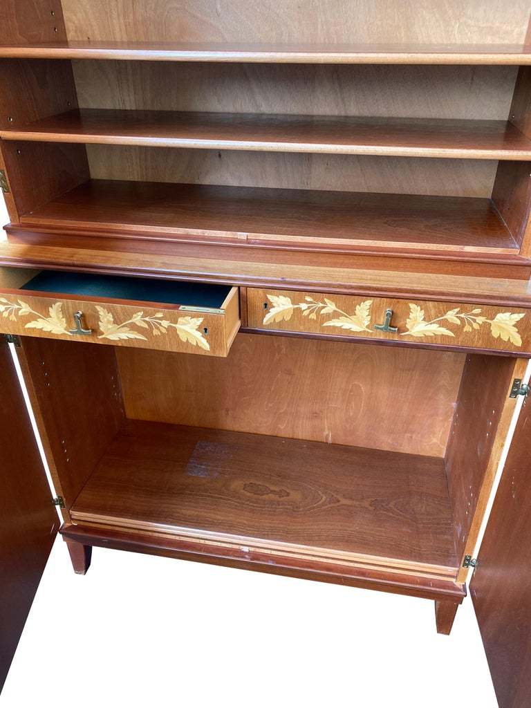 Swedish Mid-Century Modern Inlaid Cabinet with Brass Hardware by J.O. Carlssons For Sale 3