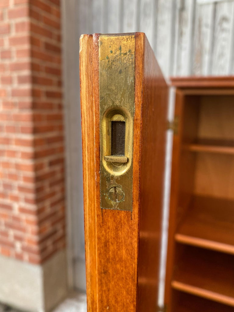 Swedish Mid-Century Modern Inlaid Cabinet with Brass Hardware by J.O. Carlssons For Sale 4