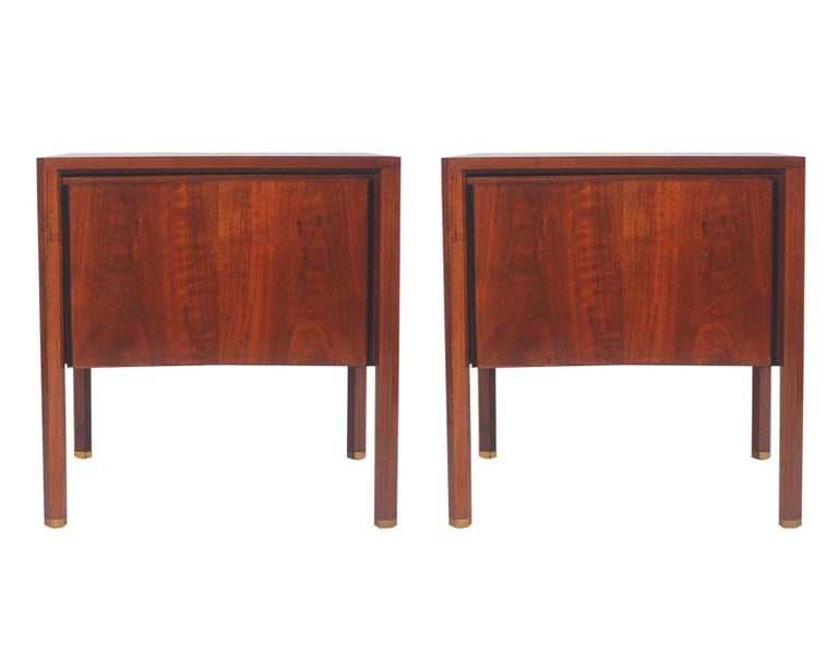 Mid-20th Century Swedish Mid-Century Modern King Size Bedroom Set by Edmond Spence in Walnut For Sale